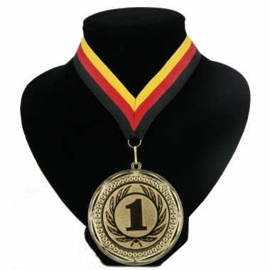 Kampioensmedaille medaille rood geel zwart