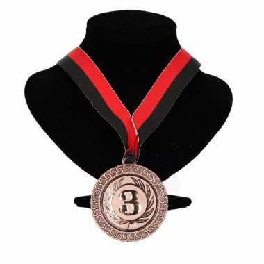 Kampioensmedaille nr. 3 rood en zwart