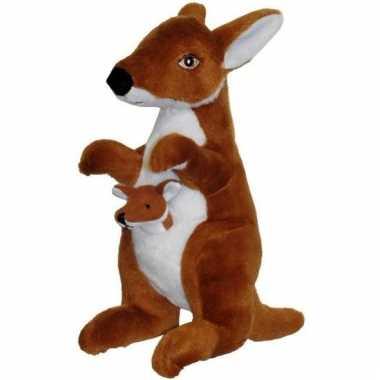 Kangoeroe met baby knuffels 50 cm