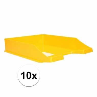 Kantoor postbakje geel a4 10 stuks