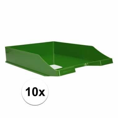Kantoor postbakje groen a4 10 stuks