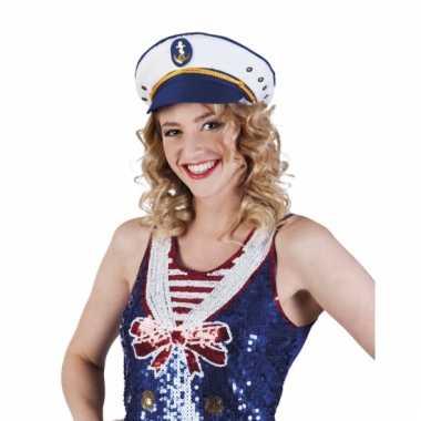 Kapiteinspet met blauw voor volwassenen