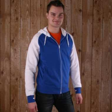 Kariban sweater met rits blauw