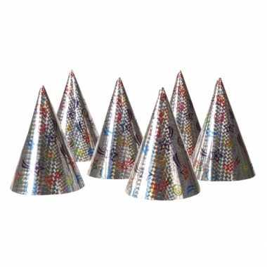 Kartonnen feesthoedjes 6x