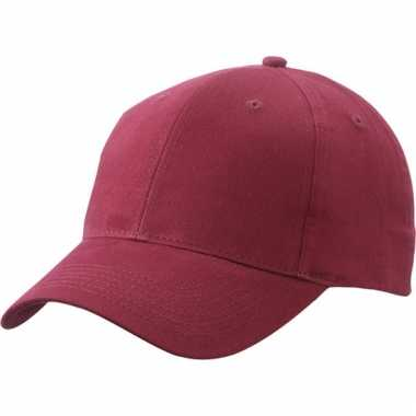 Katoenen baseball caps bordeaux