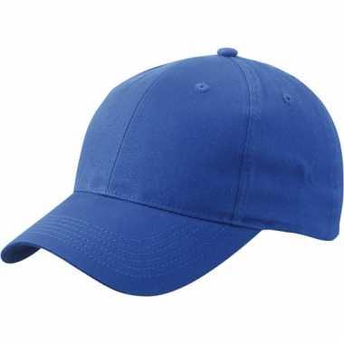 Katoenen baseball caps kobalt