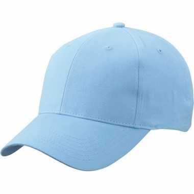 Katoenen baseball caps licht blauw