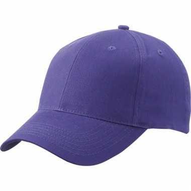 Katoenen baseball caps paars