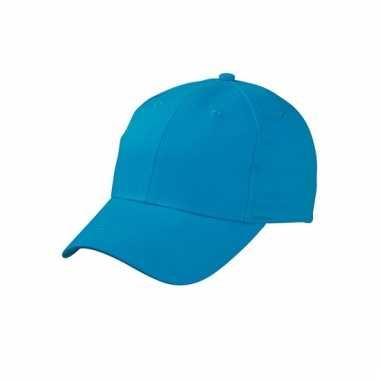 Katoenen baseball caps turquoise
