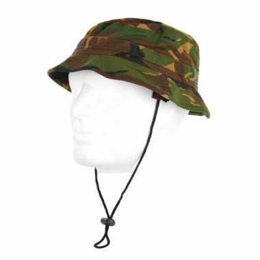 Katoenen camouflage hoedje