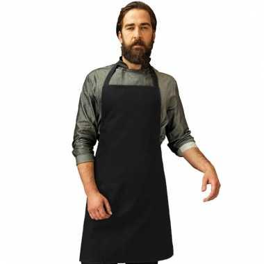 Katoenen keukenschort premier zwart
