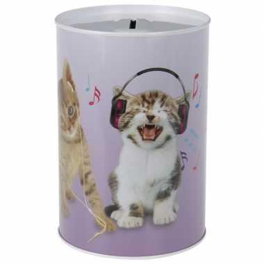 Katten/poezen spaarpot 15 cm