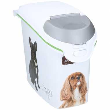 Kattenvoer/hondenvoer curver voeding container/opbergdoos 6 kg/15 lit