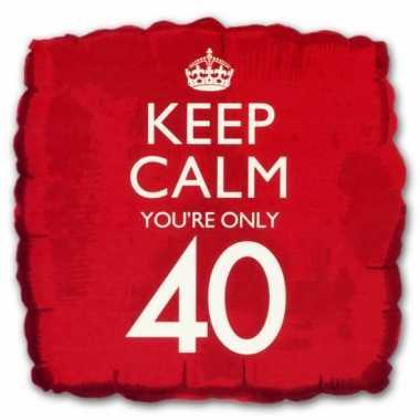 Keep calm youre 40 ballon