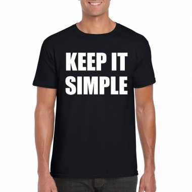 Keep it simple fun t-shirt zwart voor heren