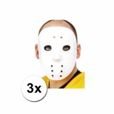 Keeper maskers ijshockey 3 stuks