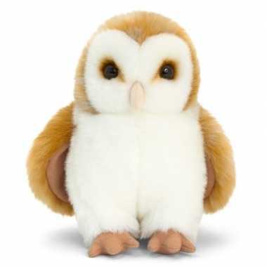 Kerkuil bruin knuffelvogel 28 cm