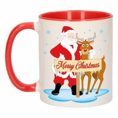 Kerst beker rudolph en santa 300 ml
