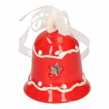 Kerst bel ornament rood