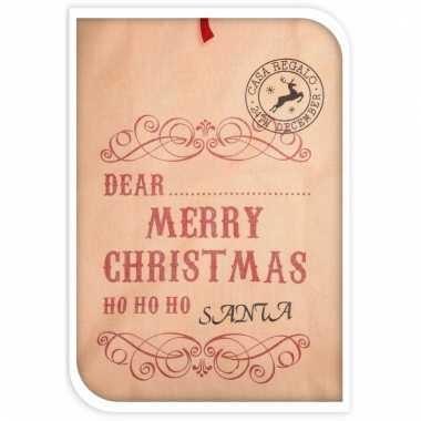 Kerst cadeau zak ho ho ho jute 100 cm van de kerstman