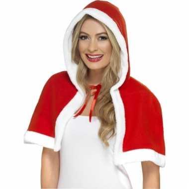 Kerst cape met capuchon