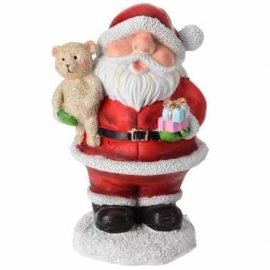 Kerst decoratie kerstmannen beeldje 10 cm
