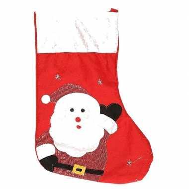 Kerst decoratie sok kerstman rood 43 cm
