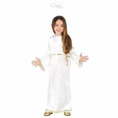Kerst engelen kostuum met aureool/halo voor meisjes