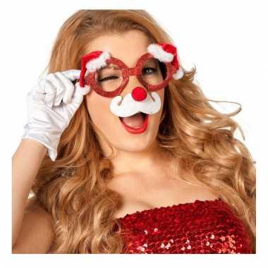 Kerst funbril met neus voor volwassenen