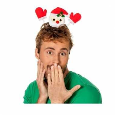 Kerst haarband met zwaaiende kerstman