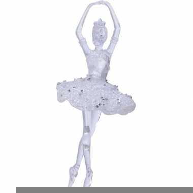 Kerst hangdecoratie doorzichtige balletdanseres 17,4 cm