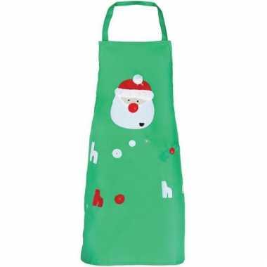 Kerst knutsel schort groen voor kids