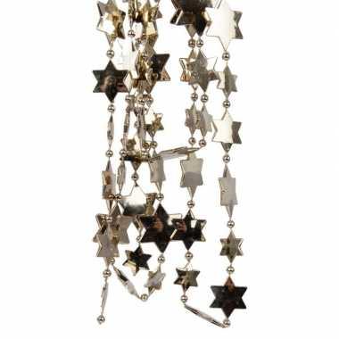 Kerst sterren kralen guirlande kasjmier bruin 270 cm kerstboom versie