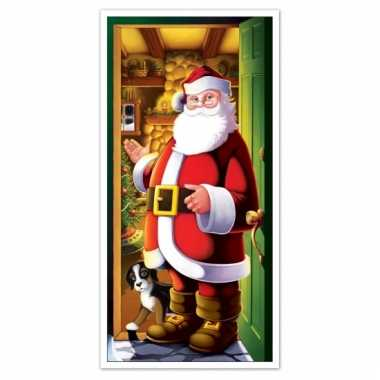 Kerst thema deurposter 152 cm