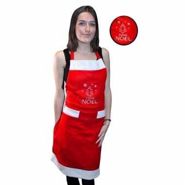 Kerst verkleedkleding schort joyeux noel