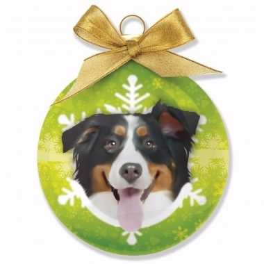 Kerstbal honden berner sennen 8 cm