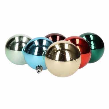 Kerstballen glanzend 6 stuks