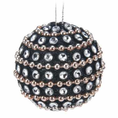 Kerstballen met steentjes 3,5 cm