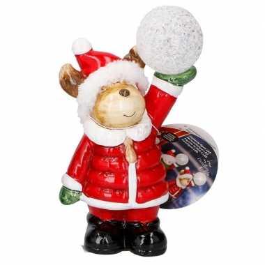 Kerstbeer met led-verlichting 17 cm