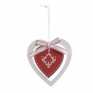 Kerstboom decoratie hanger rode hart