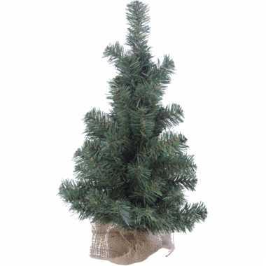 Kerstboom met jute voet 60 cm