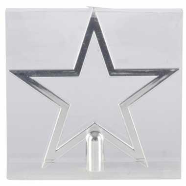 Kerstboom piek zilveren ster