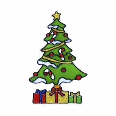 Kerstboom raam versiering 18 cm