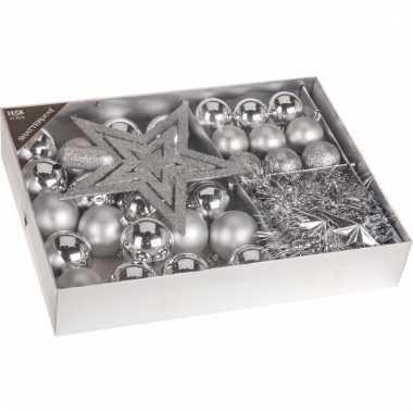 Kerstboomdecoratie 33 delig zilver