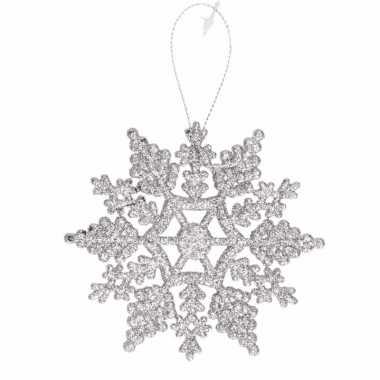 Kerstboomhanger sneeuwvlok zilver type 2