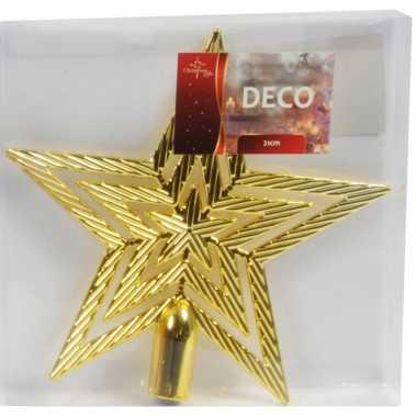 Kerstboompiek gouden ster 21 cm