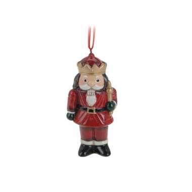 Kersthanger notenkrakertje 8 cm
