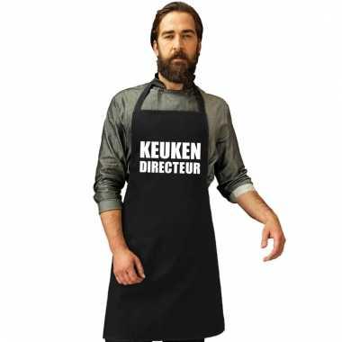 Keukenschort keuken directeur zwart heren