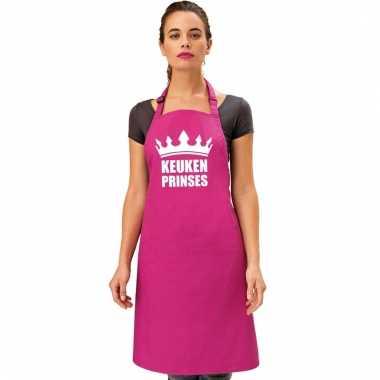 Keukenschort keuken prinses roze dames