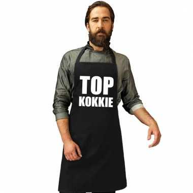 Keukenschort top kokkie zwart heren